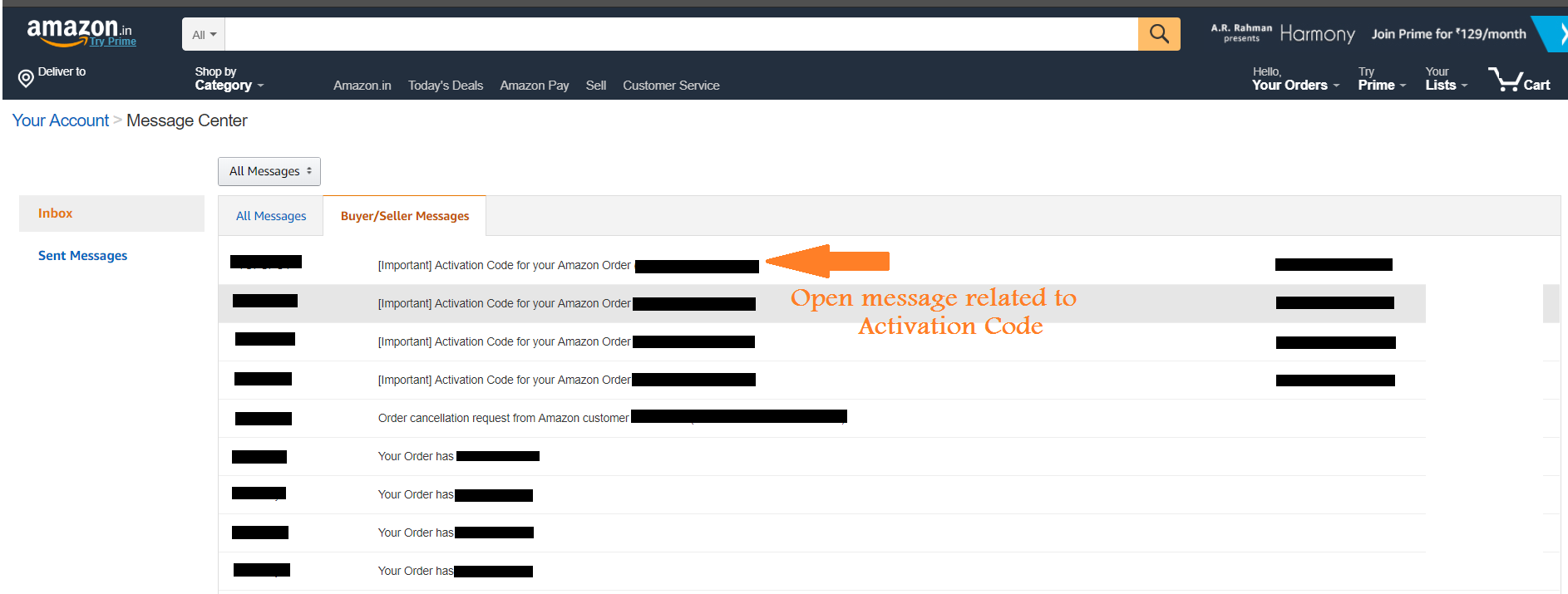 Amazon Email Delivery-Message center