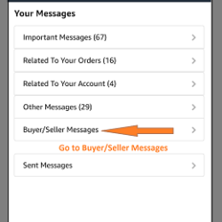 Amazon Mobile Application India- Buyer-Seller msg